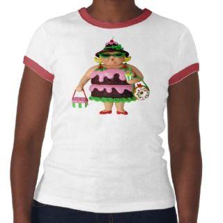 Mujer de la torta t shirt de