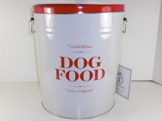 harry barker dog food storage can metal small