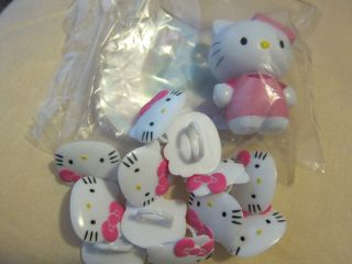 HELLO KITTY LIGHT UP CAKE TOPPER and12 HELLO KITTY Cupcake Rings