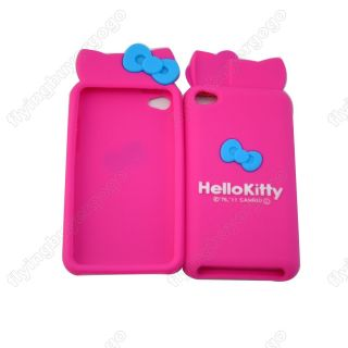 Hello Kitty Bow Silicone Soft Case Cover Skin for iPod Touch 4G 4th