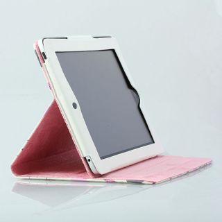 Hello Kitty iPad 2 3 Smart Cover Slim Magnetic PU Leather Case Wake