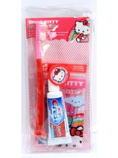 Hello Kitty Toothbush Gift Set Kit in Zip Pouch Christmas Stocking