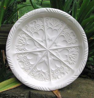 Hartstone Pottery Vtg White Heart Shortbread Mold Cookie