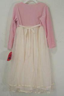 HARTSTRINGS Pink Velvet Mesh Rose Party Dress NWT Girls Size 6