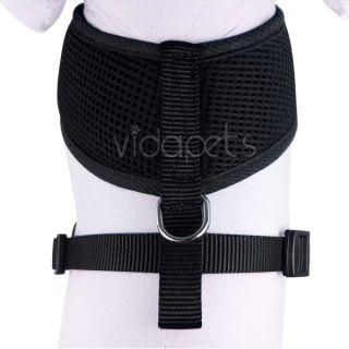 Girth Black Soft Mesh Comfort Dog Harness Vest Collar Medium