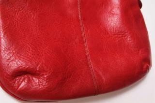 Hayden Harnett Red Leather Sao Paulo Crossbody Messenger Bag