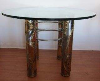 Mid Century Modern Metal Silas Seandel Dynasty Dining Dinette Table
