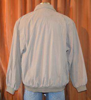 Clark Gregory Tan Water Repellant Golf Rain Windbreaker Jacket Mens