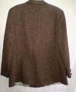 Vintage Lands End Charter Collection HARRIS TWEED Blazer Jacket 18