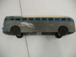 GREYHOUND BUS MADE FROM ARCADE CAST IRON MOLD IN ALUMINUM BY FREEPORT