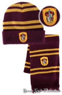Harry Potter Gryffindor House Wool Scarf Hat w Crest Beanie