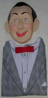 Scarce PEE WEE HERMAN Adult Halloween Costume & Pee Wee Mask UNUSED