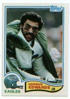 1982 Topps Card 442 Herman Edwards CB Eagles