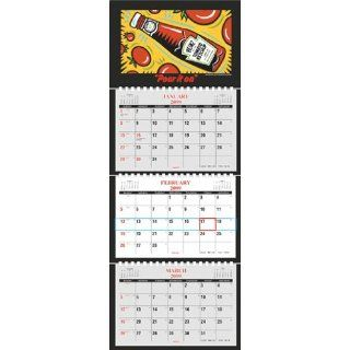 Three Month Calendar   2013 TY12 Four Panel (3 Months at a