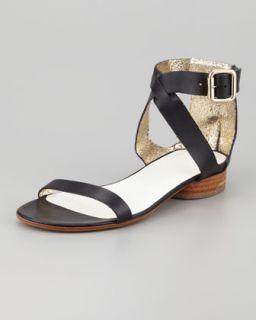 X1L3G Maison Martin Margiela Ankle Cuff Flat Leather Sandal