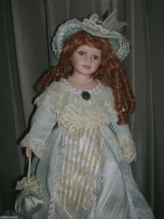SOUTHERNBELL PORCELAIN DOLL GORGEOUS GREEN EYED ARTMART CHICAGO LTD