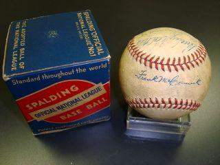 1940 Cincinnati Reds Team Signed ONL Frick Baseball World Champs