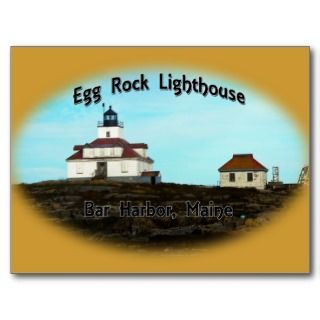 Egg Rock Lighthouse Postcard