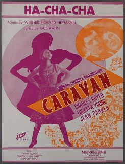 Ha Cha Cha Heymann Kahn Caravan Loretta Young 1934 Movie Sheet Music