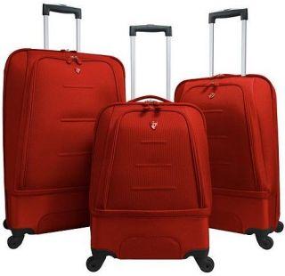 Heys USA Fuse x1 Expandable Hybrid 4WD Luggage Set Red