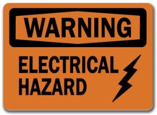 Warning Sign Electrical Hazard 10 x 14 OSHA Safety Sign