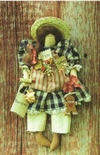 Pattern Primitive Doll Her Gingerbread Baking Cutie