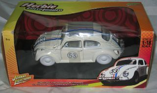 Johnny Lightning Herbie FULLY LOADED CLASSIC Herbie  WHITE