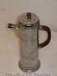 Vintage Retro Art Deco Krome Kraft Farber Bros Coffee Pot Bakelite