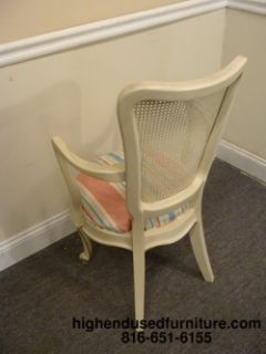 Hickory White French Provincial Cane Back Chairs