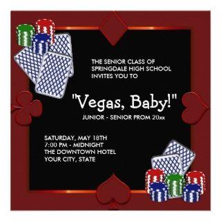 Las Vegas Casino Prom Invitations