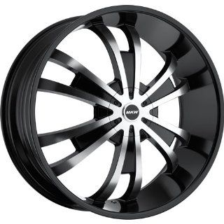 MKW M109 24 Black Wheel / Rim 5x135 & 5x5.5 with a 18mm Offset and a