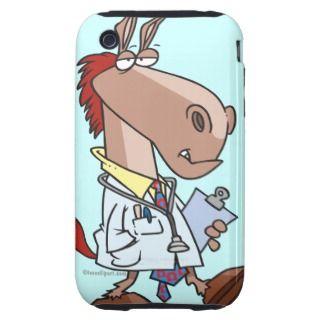 funny horse doc doctor cartoon iPhone 3 tough case