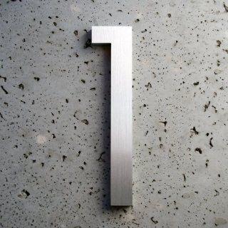 Modern House Number Aluminum Modern Font Number Six 6 6