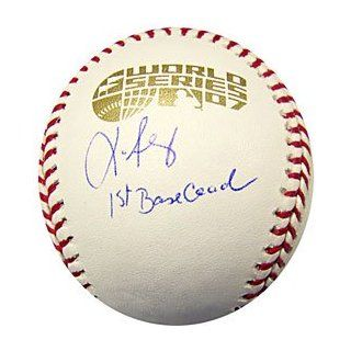 / Signed 2007 World Series Baseball Boston Red Sox
