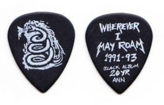 Metallica James Hetfield Black Snake Guitar Pick #2   2012 Tour