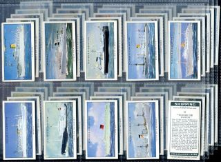 Tobacco Card Set John Player Shipping Boat Cruise SHIP Liner