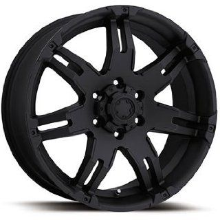 Ultra Gauntlet 17x9 Black Wheel / Rim 8x6.5 with a 12mm Offset and a