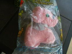 Vtg Rushton Atlanta Animal Crackers Pink Elephant Plush