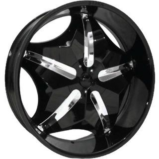 Starr Chubby 20 Black Wheel / Rim 5x4.5 & 5x120 with a 15mm Offset and