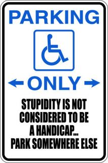 Handicapped Parking Only Vinyl Sign Home Yard Work Shop