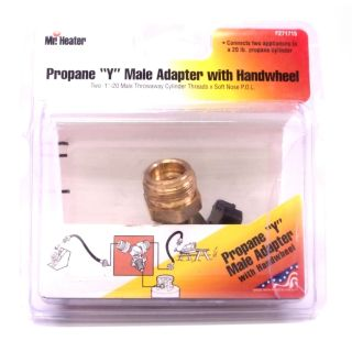 Mr Heater F271735 Propane Y Female Adapter w Handwheel 2 Female P O L
