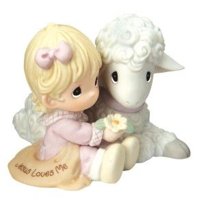 Precious Moments Religious Figurine Jesus Loves Me Girl 102012 New for