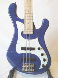 Dean Hillsboro Electric Bass Guitar 4 String Jazz Style Trans Blue New