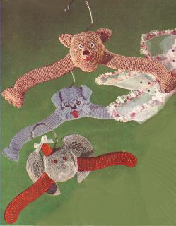Baby Childs Hangers Elephant Dog Bear Crochet Pattern
