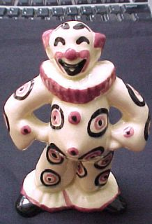 Rare Vintage Hand Painted Hinies Himes Art Pottery Bozo Clown Circus