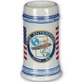 USS Enterprise CVN65  Beer Stein Mug