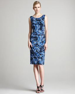 Erdem Corel Floral Print Jersey Dress
