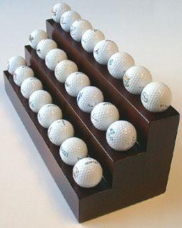 Deluxe Handcrafted Rosewood 3 Tier 24 Golf Ball Display