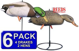 Higdon Magnum Full Body Mallard Duck Decoy Feeders 6 Pack 12019