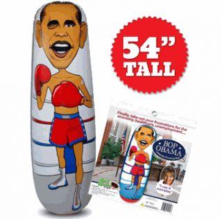 Bop Obama Punching Bag   Feel like Uve taken a Financial Sledgehammer